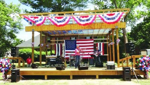 The Jerry Pierce Band took the state at Covered Bridge Park during the 4th of July festivities. It turns out he state was missing its opening act - approval from the Historic Zoning Commission.
