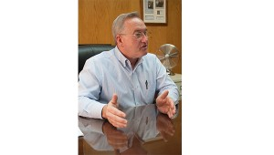 """Photo by Brandon Hicks Carter County Mayor Leon Humphrey vetoed the budget approved by the County Commission on Monday citing """"illegal"""" action taken by the commission as well as other problems with the amended budget."""