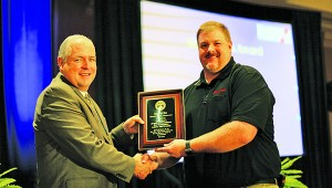 Elizabethton's Snap-On Tools plant has been chosen to receive the Governor's Award of Excellence for Workplace Safety and Health. The plant qualified for the Governor's Award by working more than 908,000 hours without a lost-time or restricted duty workplace injury or illness. The site's injury-free record dates back to May 2013. Pictured are TOSHA Administrator Steve Hawkins, left, and Brian Irwin of Snap-On Tools