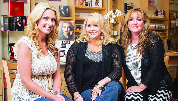 The ladies from Merle Norman in downtown Elizabethton are ready to help you with all your beauty needs. From left are stylist Jennifer Whitehead and Merle Norman owners Michelle Taylor and Andrea Edmondson.