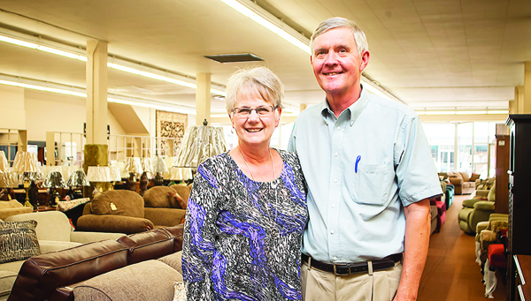 Photo by Brandon Hicks Margo Bentley and her husband, Stan, are the second generation to operate Ritchie's Furniture and Appliance in downtown Elizabethton. The business was founded by Margo's father Ralph X. Ritchie in 1936.