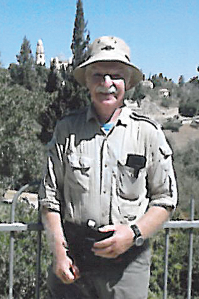Contributed Photo  Bob Peoples has thousands of miles under his belt, and here is pictured in Jerusalem, hiking along the Jesus Trail.