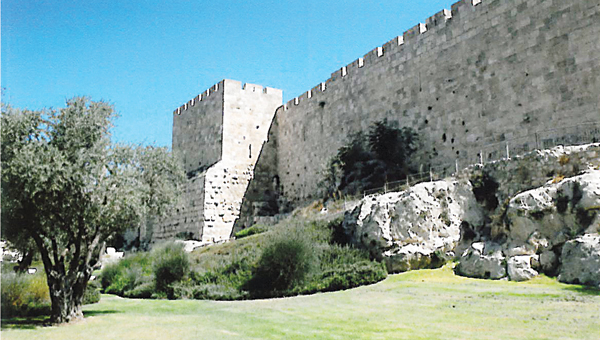 Contributed Photo  The wall of Old Jerusalem stands strong and welcomes visitors to walk the tops of its walls.