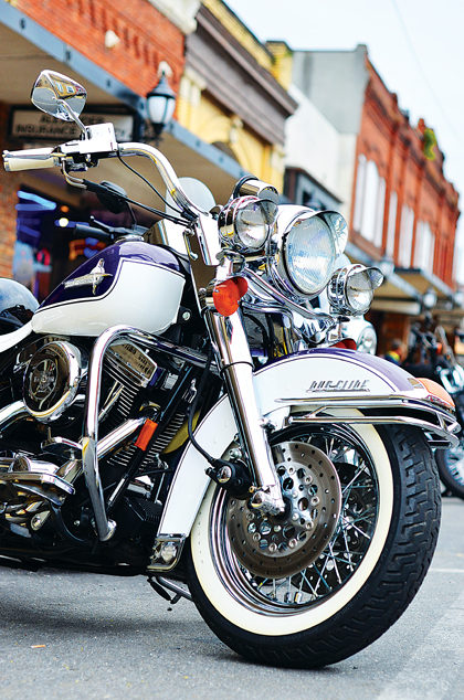 Star Photo/Rebekah Price Bike Nights at Jiggy Rays bring people together from around the region to show off their rides and enjoy pizza in downtown Elizabethton.