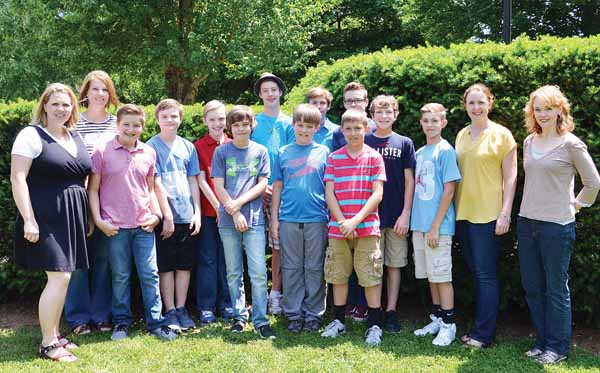 Star Photo/Rebekah Price Chaperones and students who will attend the FACT Summit 2016 include (from left) Marianne Townsend, Sherri Taylor, Reece Townsend, Luke Kavanaugh, Luke Anglin, Austin Taylor, Lukas Owens, Samuel Bennett, David Kliesh, Gage Treadway, Pate Anglin, Elijah Birdsong, Lauren Meier, and Janet Anglin as well as (not pictured) Sarah Younce, Elijah Younce, Haley Younce and Daniel Younce.