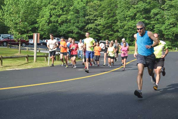 Contributed Photo Runners in previous years enjoyed the challenges presented in a competitive trail run on the Roan in the 5-kilometer Diamond Dash.
