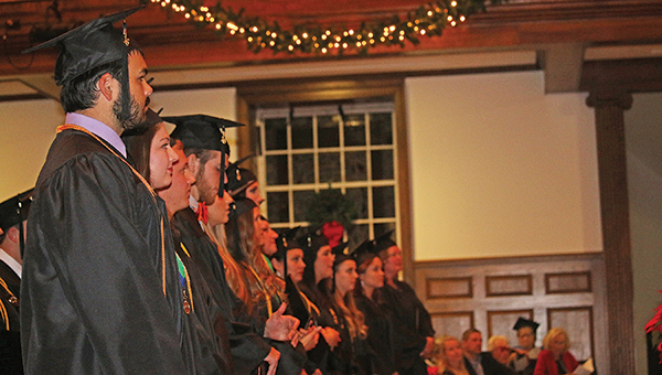 Star Photo/Curtis Carden  Milligan graduated 104 students during Commencement Friday.